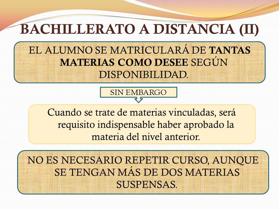 BACHILLERATO A DISTANCIA (II)
