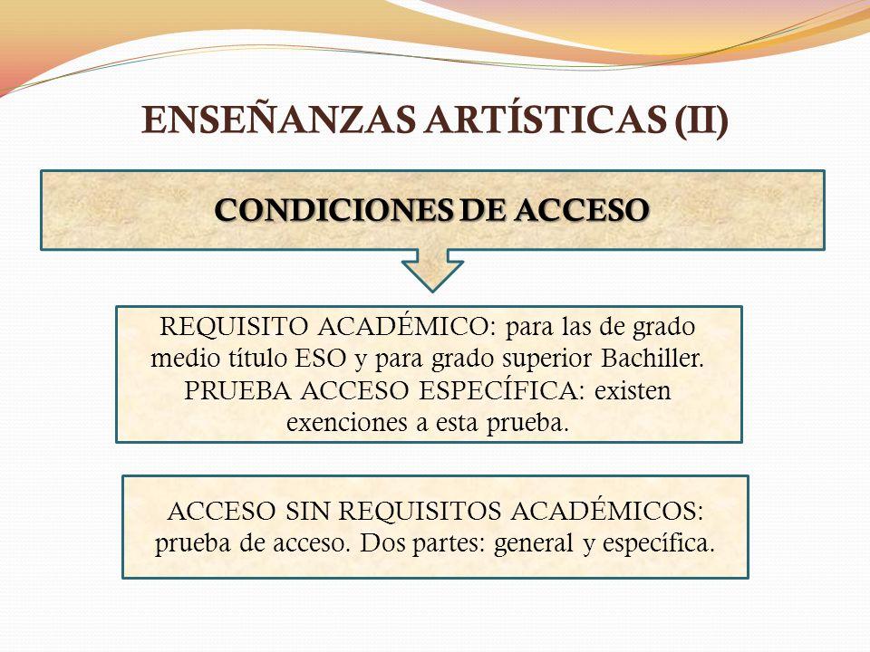 ENSEÑANZAS ARTÍSTICAS (II)