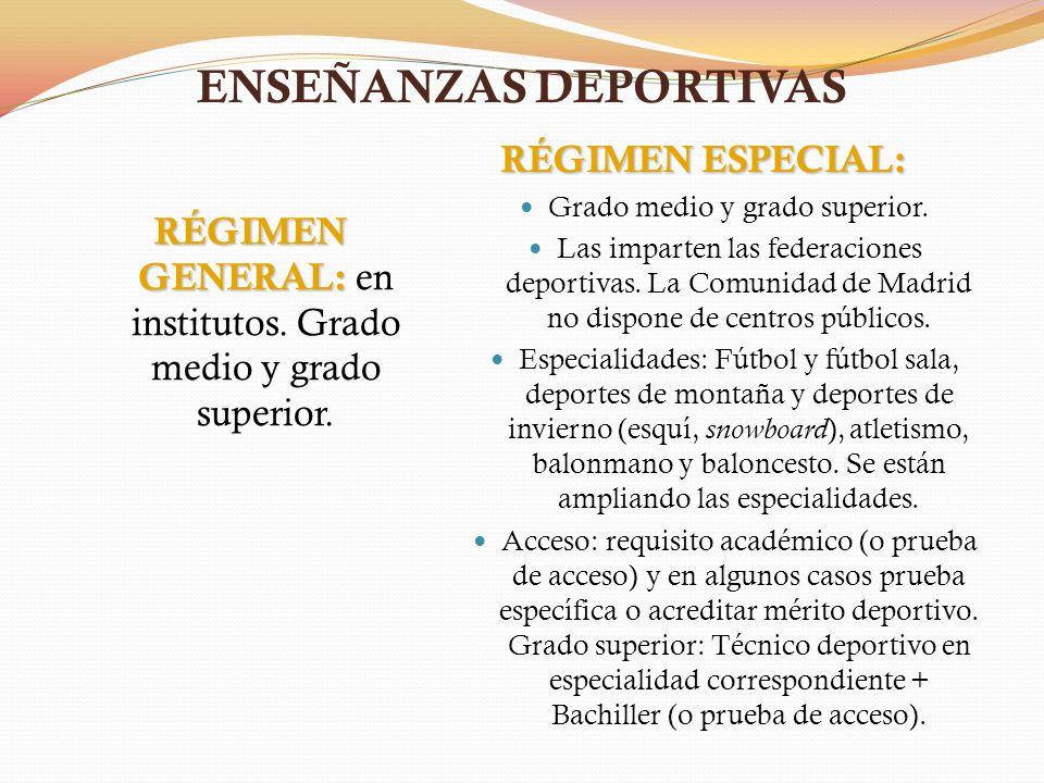 ENSEÑANZAS DEPORTIVAS