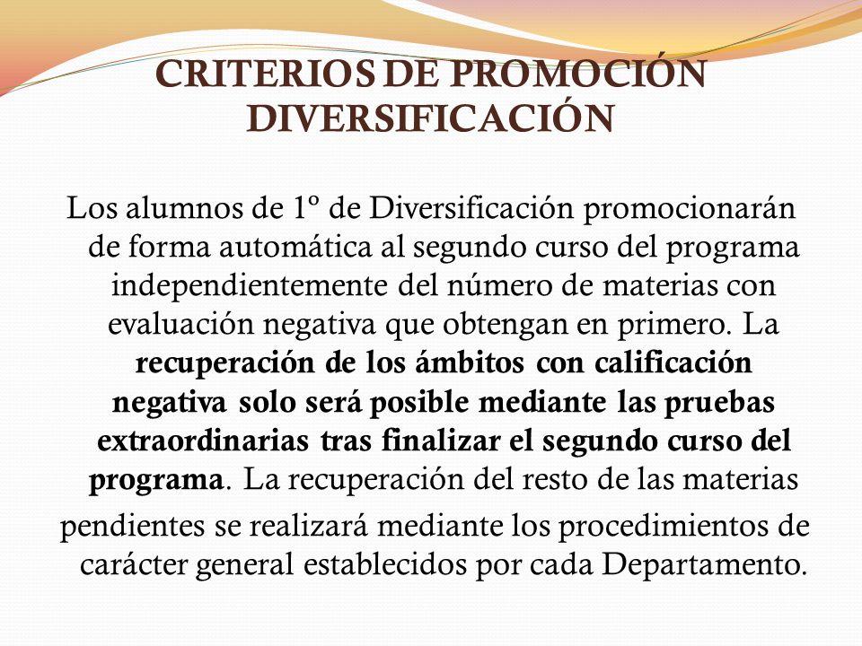 CRITERIOS DE PROMOCIÓN DIVERSIFICACIÓN