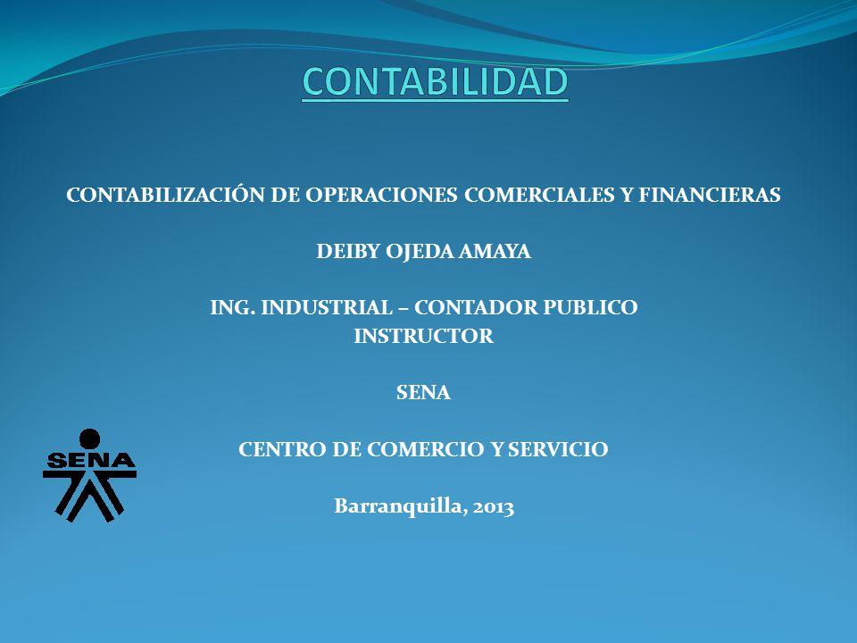 CONTABILIDAD CONTABILIZACIÓN DE OPERACIONES COMERCIALES Y FINANCIERAS