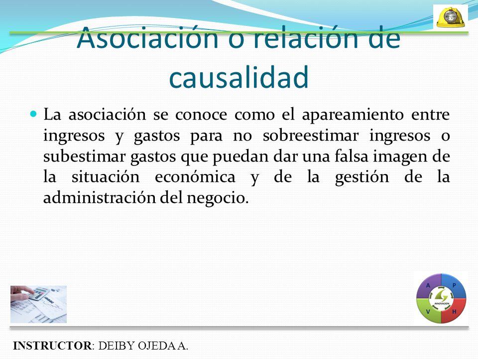 Asociación o relación de causalidad