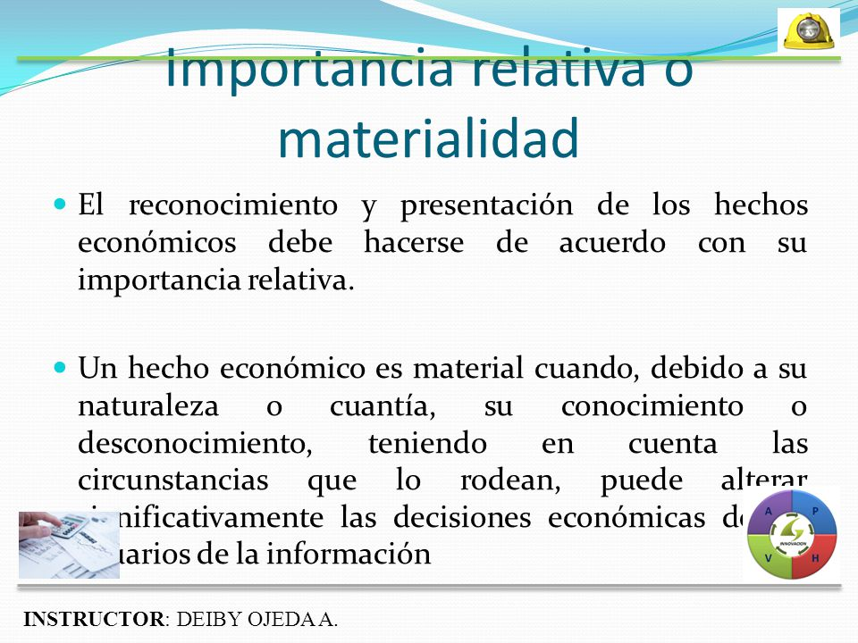 Importancia relativa o materialidad