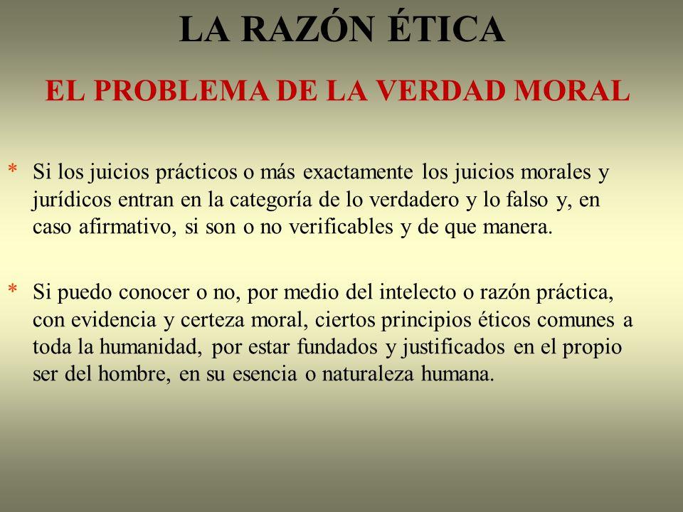 LA RAZÓN ÉTICA EL PROBLEMA DE LA VERDAD MORAL