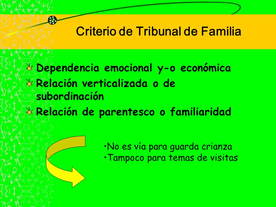 Criterio de Tribunal de Familia