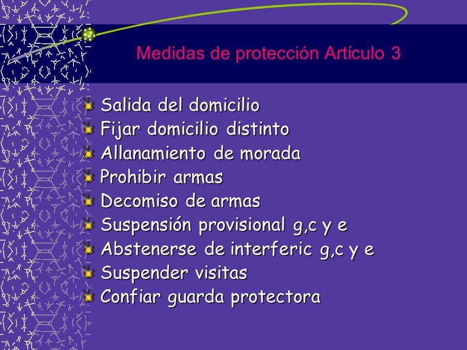 Medidas de protección Artículo 3