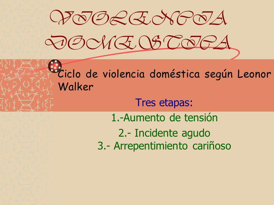 2.- Incidente agudo 3.- Arrepentimiento cariñoso