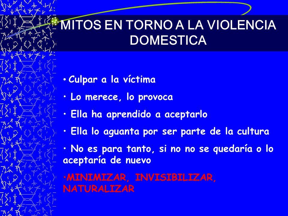 MITOS EN TORNO A LA VIOLENCIA DOMESTICA