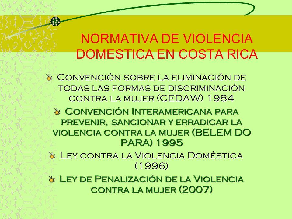 NORMATIVA DE VIOLENCIA DOMESTICA EN COSTA RICA
