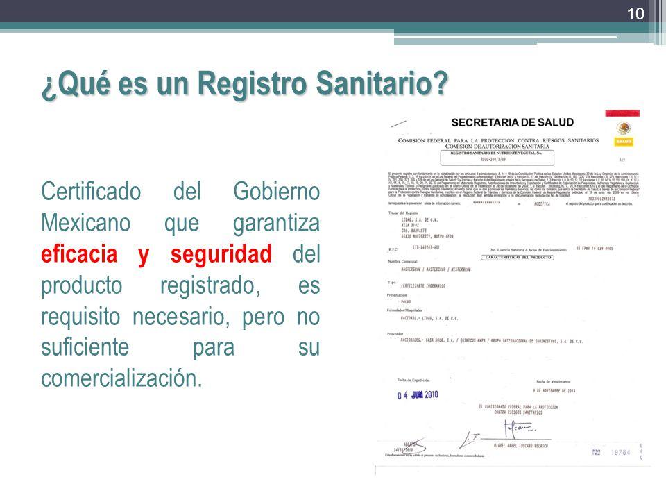 ¿Qué es un Registro Sanitario