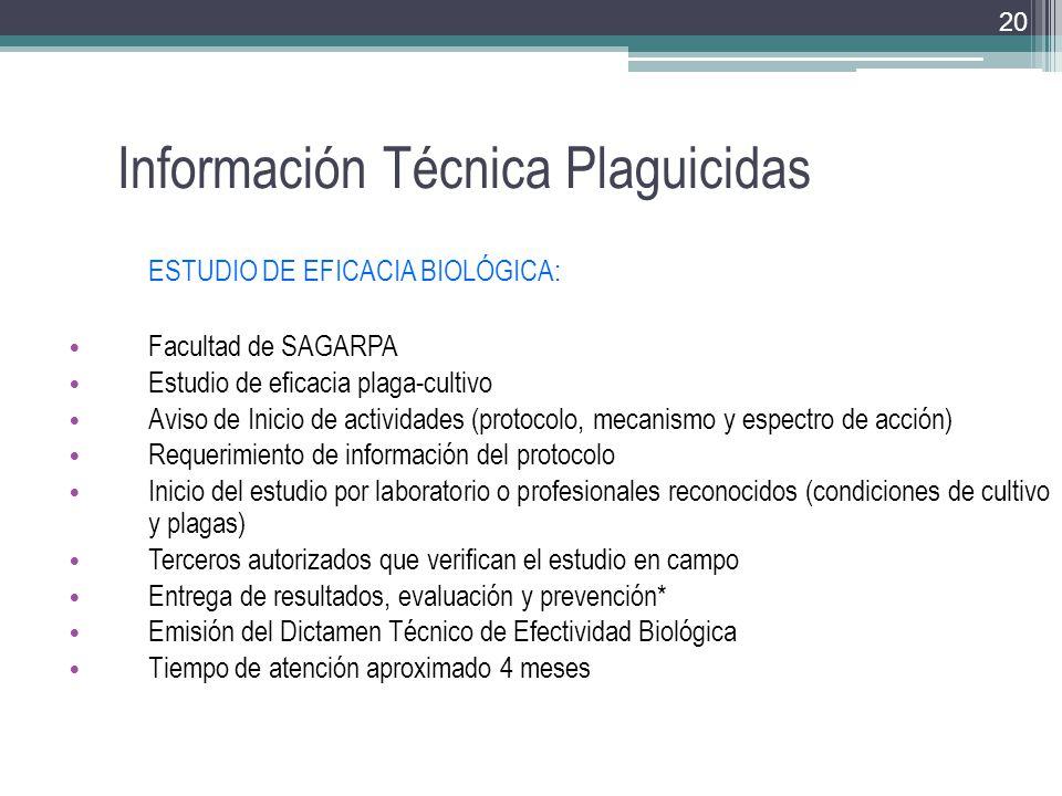 Información Técnica Plaguicidas