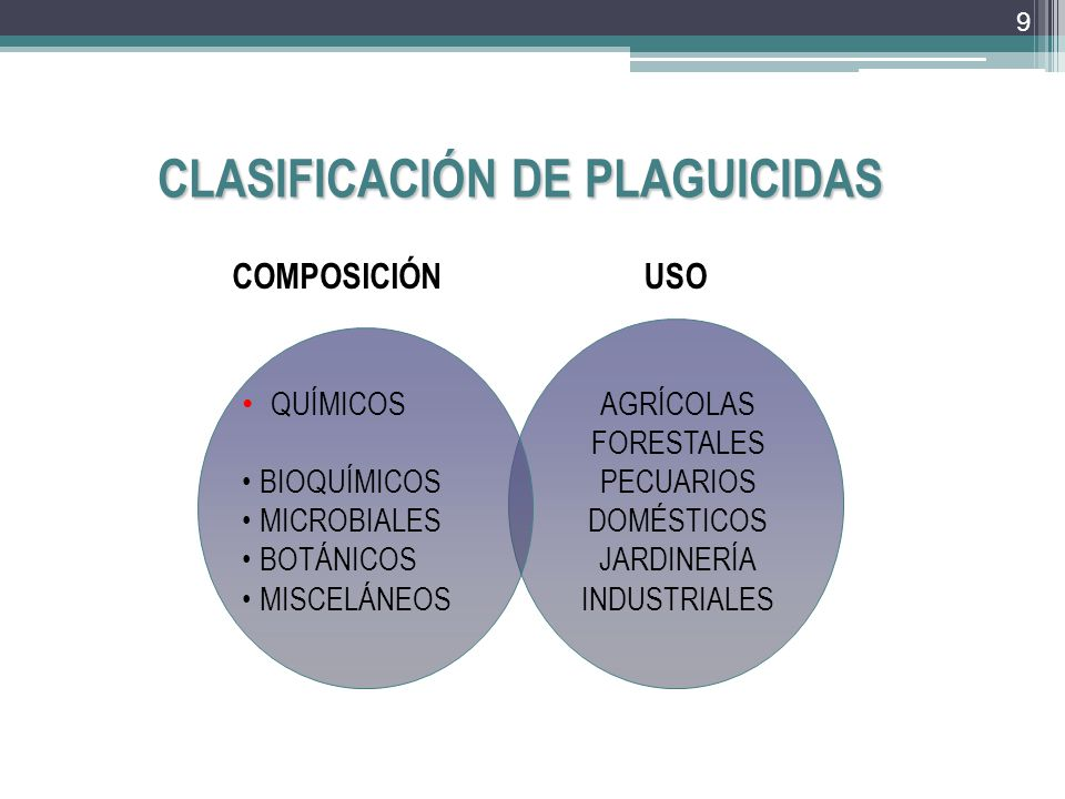 CLASIFICACIÓN DE PLAGUICIDAS