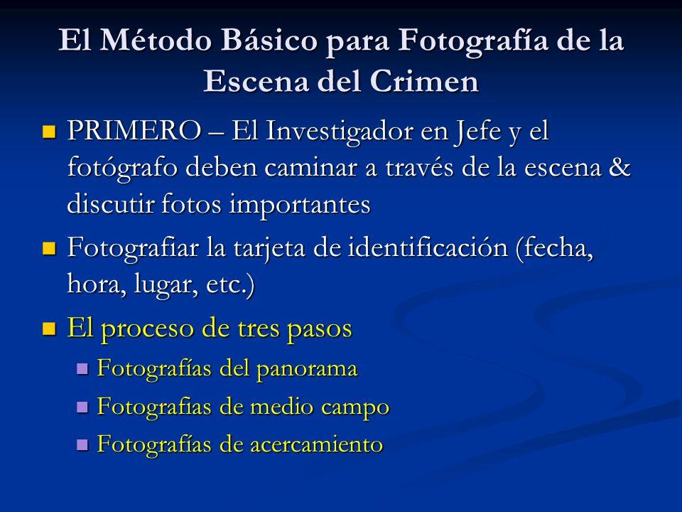 El Método Básico para Fotografía de la Escena del Crimen