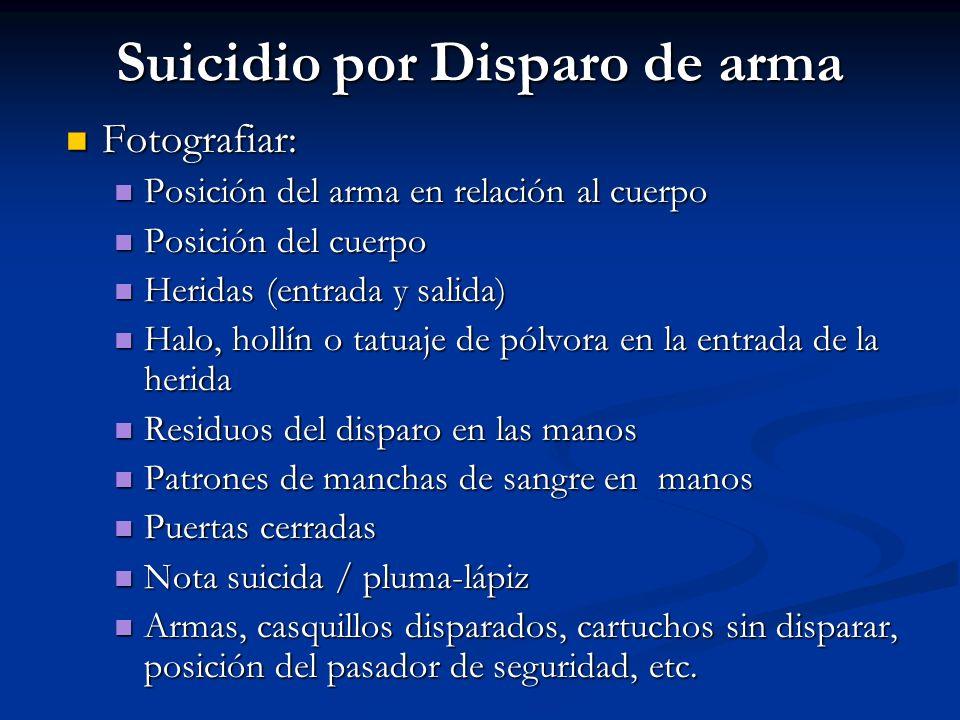 Suicidio por Disparo de arma