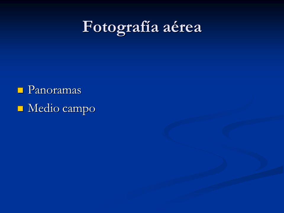 Fotografía aérea Panoramas Medio campo