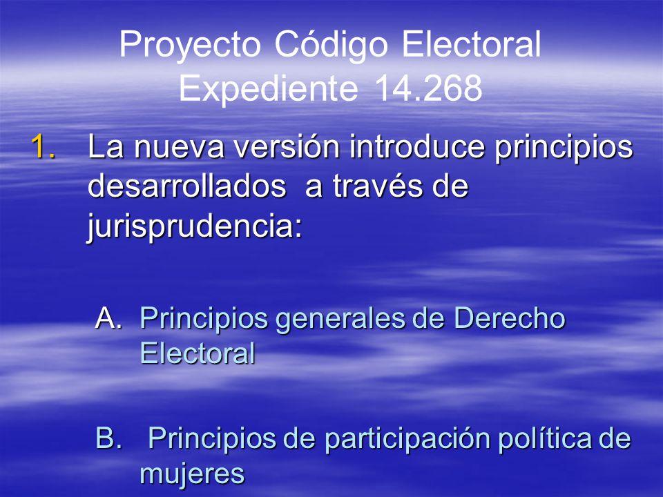 Proyecto Código Electoral Expediente 14.268
