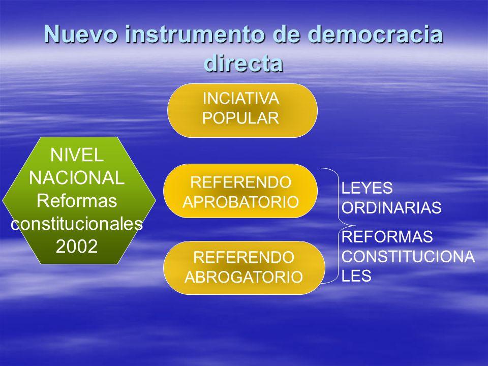 Nuevo instrumento de democracia directa