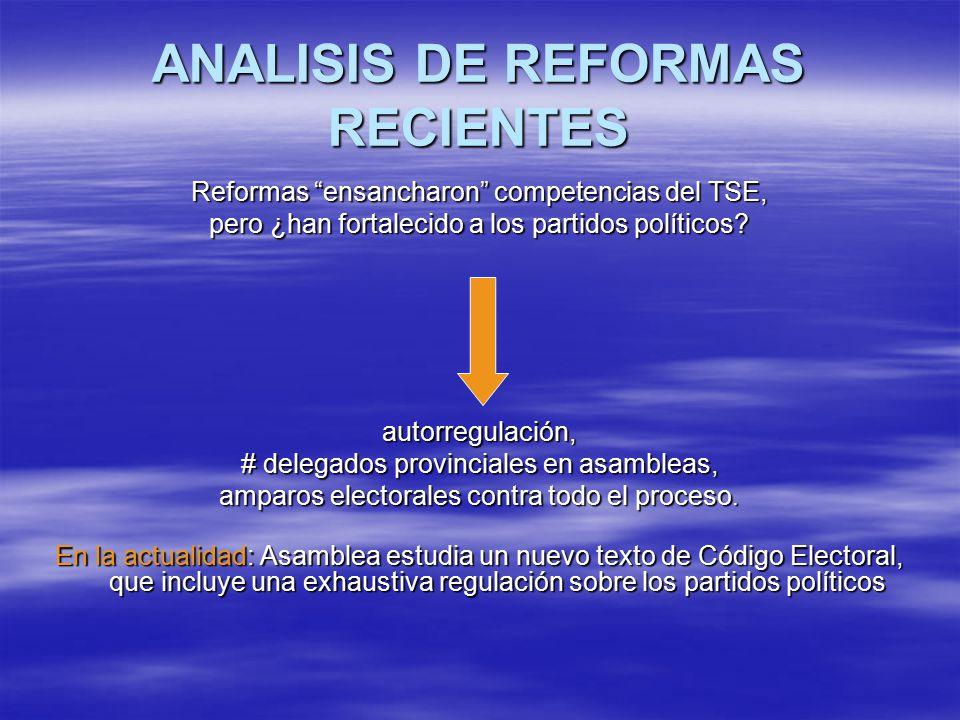 ANALISIS DE REFORMAS RECIENTES
