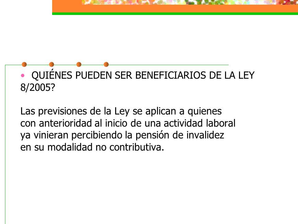 QUIÉNES PUEDEN SER BENEFICIARIOS DE LA LEY