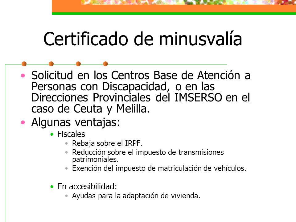 Certificado de minusvalía