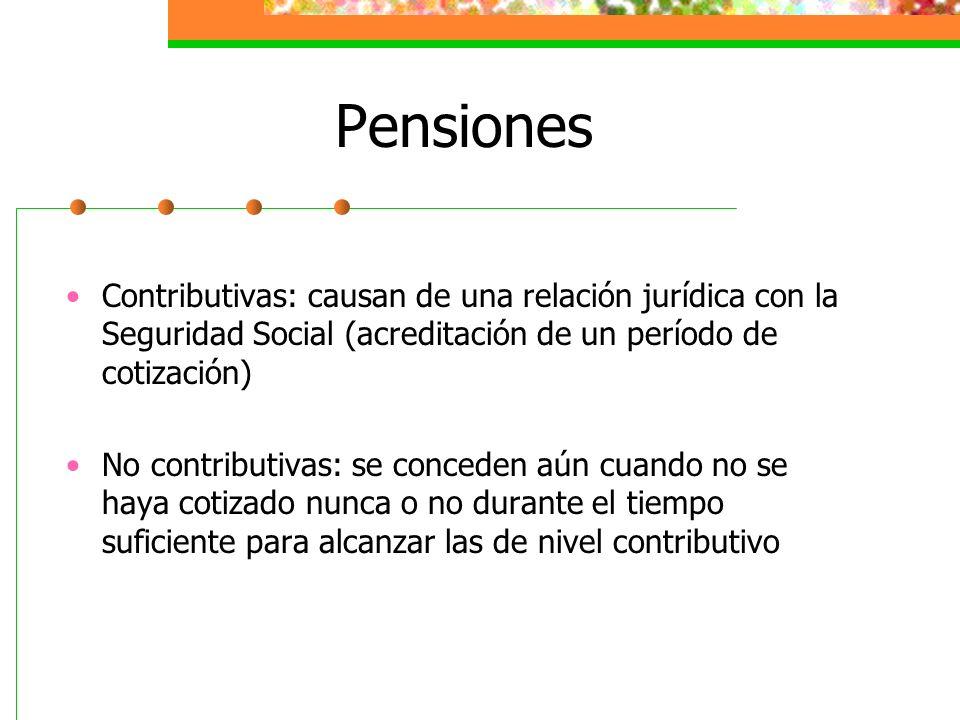Pensiones Contributivas: causan de una relación jurídica con la Seguridad Social (acreditación de un período de cotización)