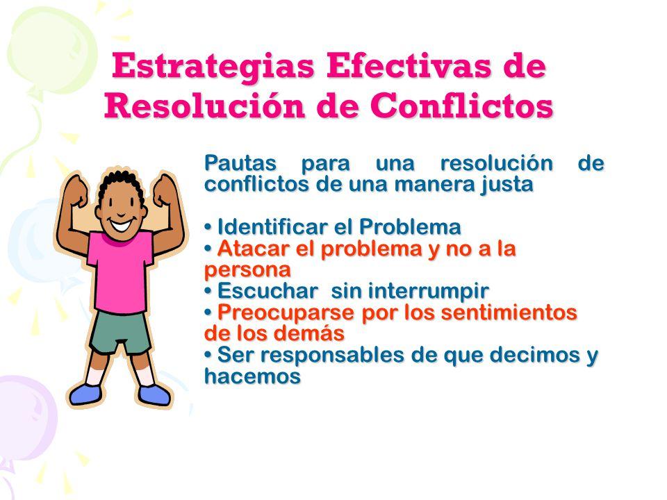 Estrategias Efectivas de Resolución de Conflictos