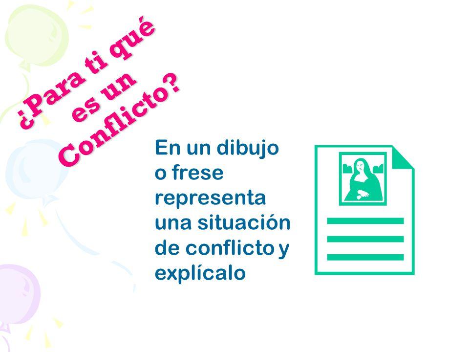 ¿Para ti qué es un Conflicto