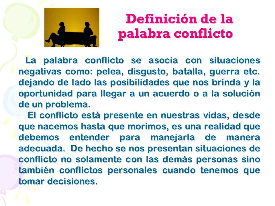 Definición de la palabra conflicto