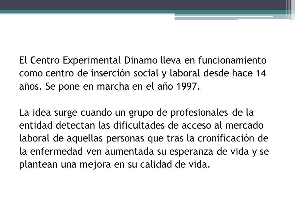 El Centro Experimental Dinamo lleva en funcionamiento como centro de inserción social y laboral desde hace 14 años.