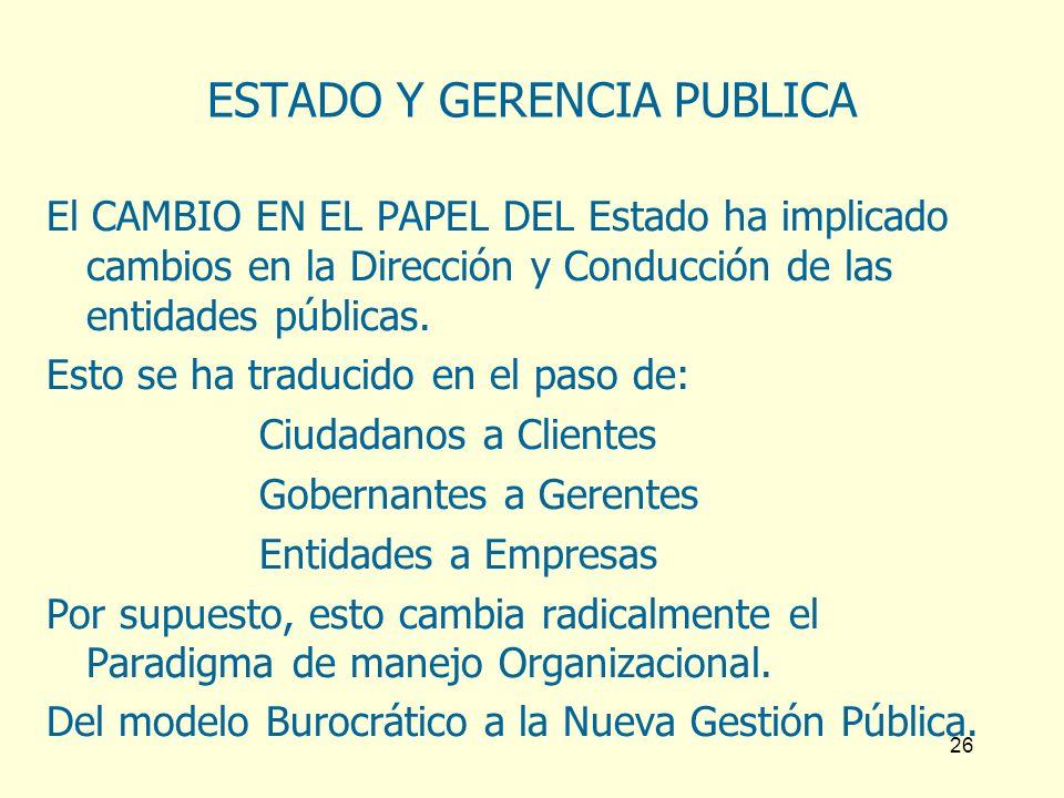 ESTADO Y GERENCIA PUBLICA