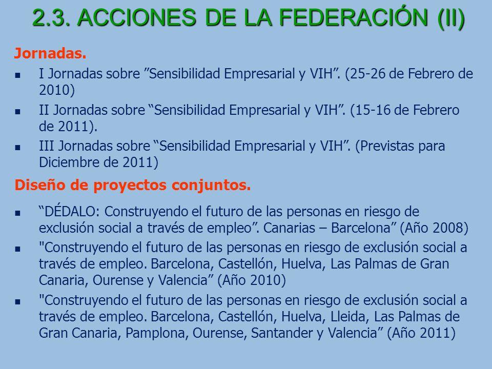 2.3. ACCIONES DE LA FEDERACIÓN (II)