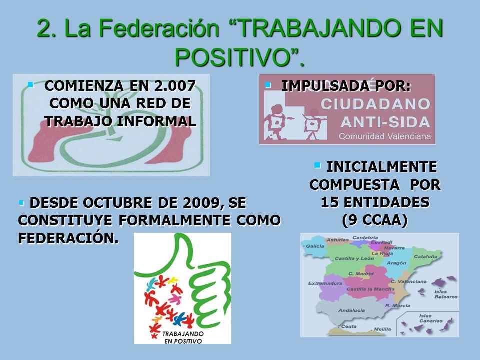 2. La Federación TRABAJANDO EN POSITIVO .