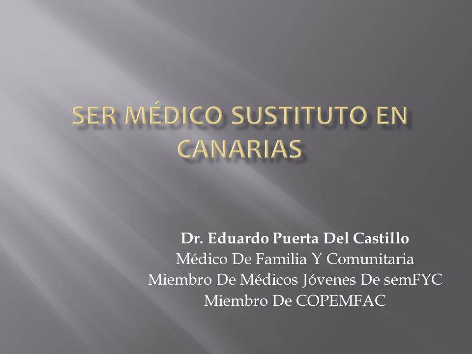 Ser Médico Sustituto En Canarias