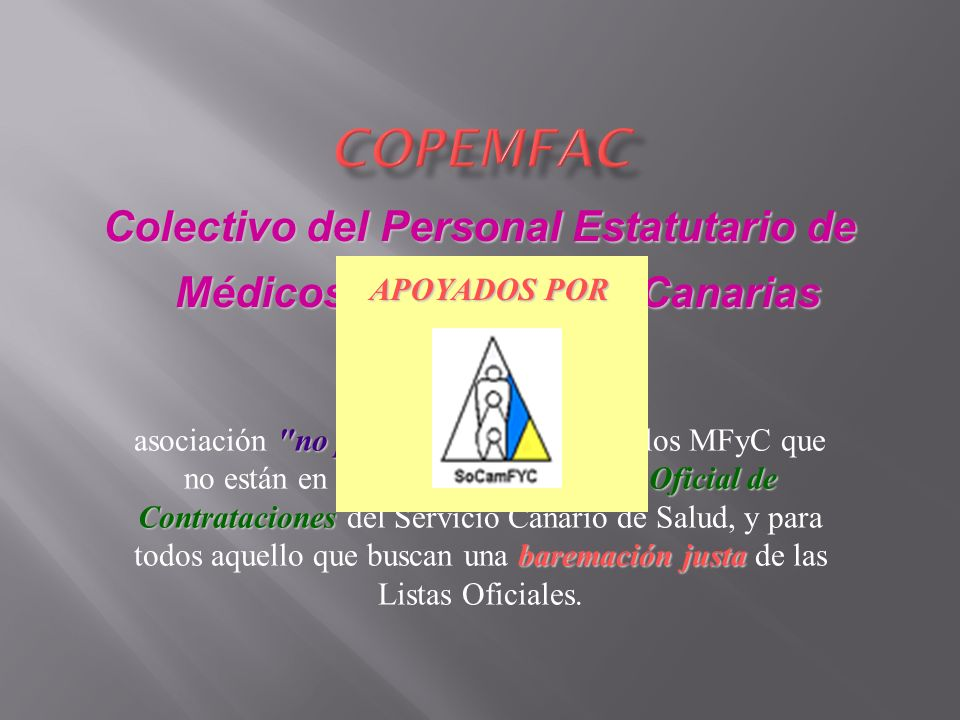 Colectivo del Personal Estatutario de Médicos de Familia de Canarias