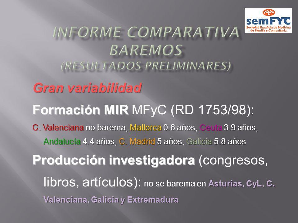 Informe comparativa baremos (resultados preliminares)