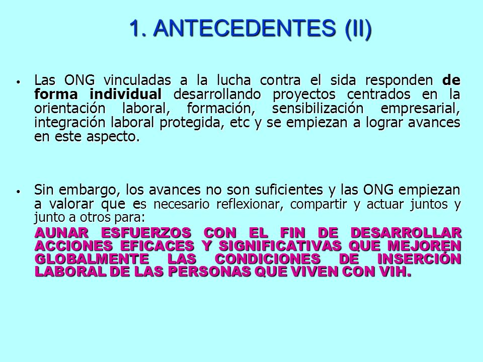 1. ANTECEDENTES (II)