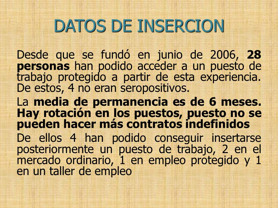 DATOS DE INSERCION