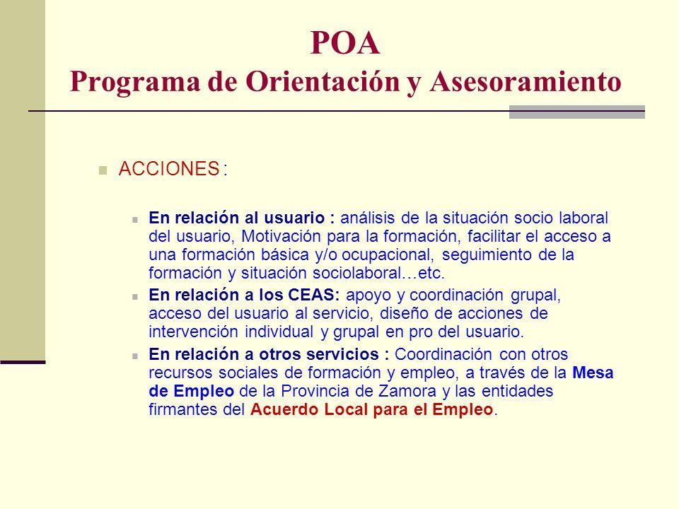 POA Programa de Orientación y Asesoramiento