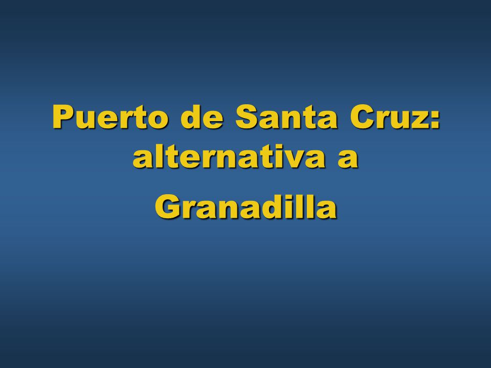 Puerto de Santa Cruz: alternativa a Granadilla