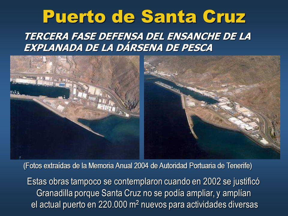 Puerto de Santa Cruz TERCERA FASE DEFENSA DEL ENSANCHE DE LA EXPLANADA DE LA DÁRSENA DE PESCA.