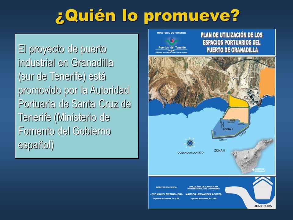¿Quién lo promueve El proyecto de puerto industrial en Granadilla