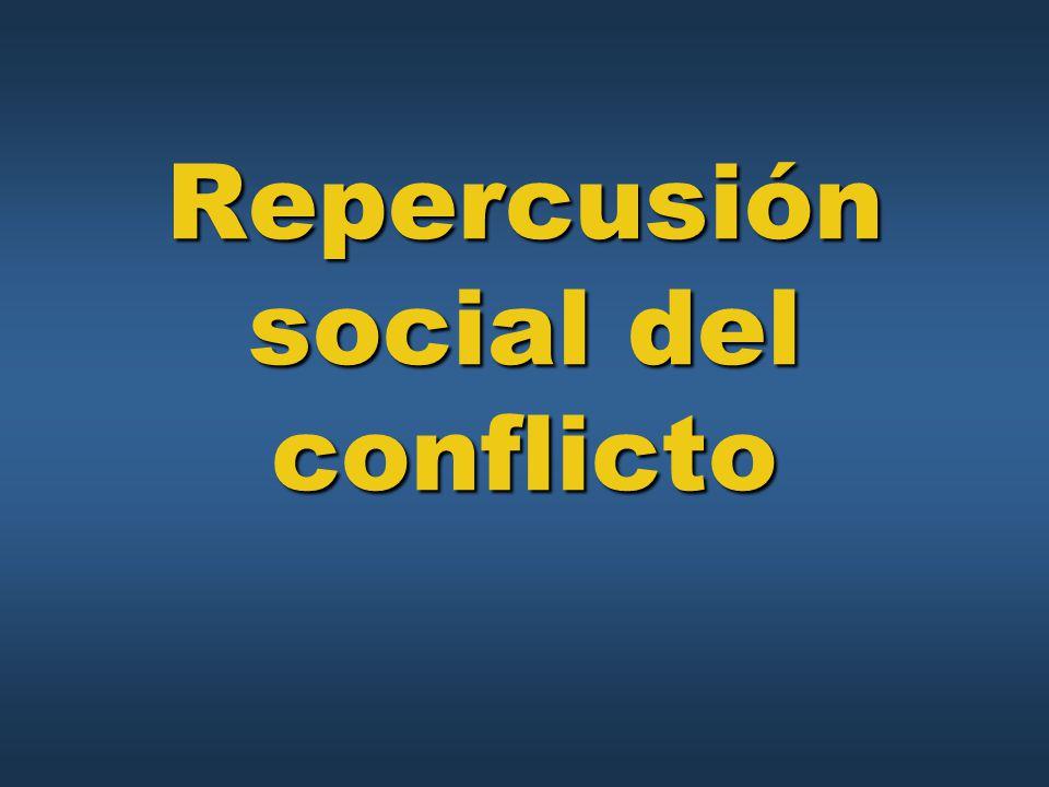 Repercusión social del conflicto
