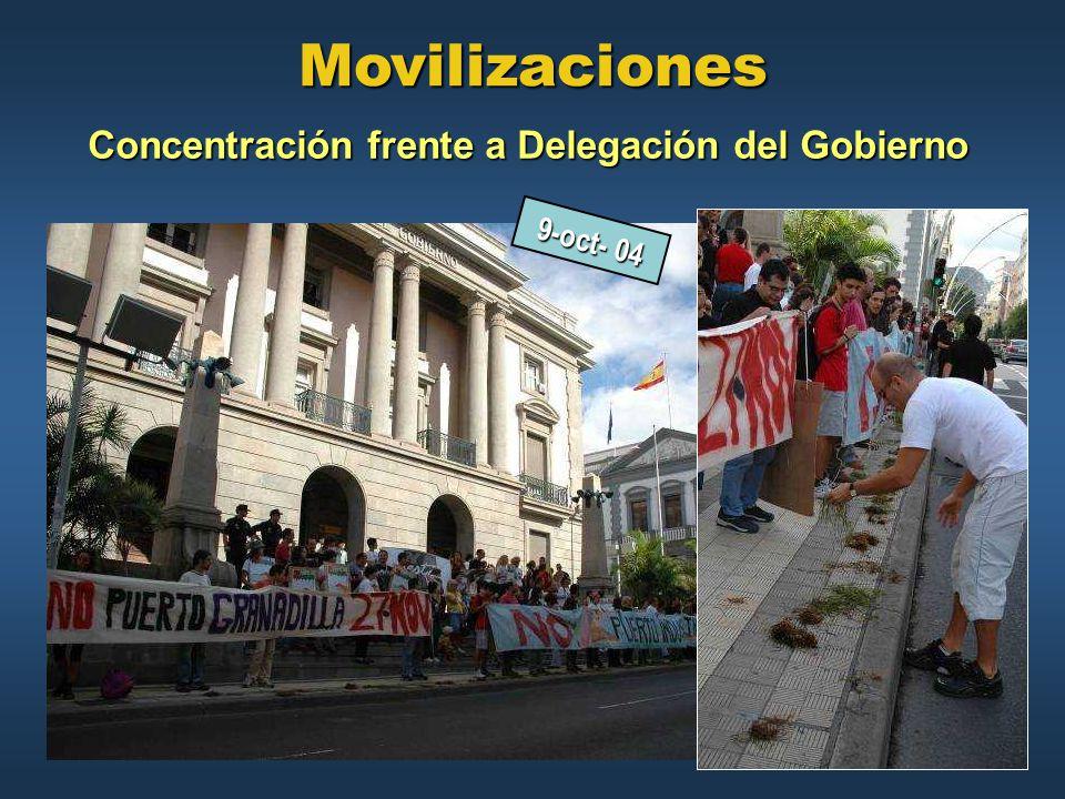 Concentración frente a Delegación del Gobierno