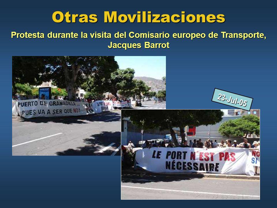 Otras Movilizaciones Protesta durante la visita del Comisario europeo de Transporte, Jacques Barrot.