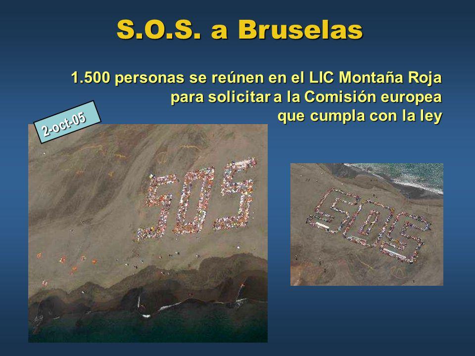 S.O.S. a Bruselas 1.500 personas se reúnen en el LIC Montaña Roja para solicitar a la Comisión europea que cumpla con la ley.