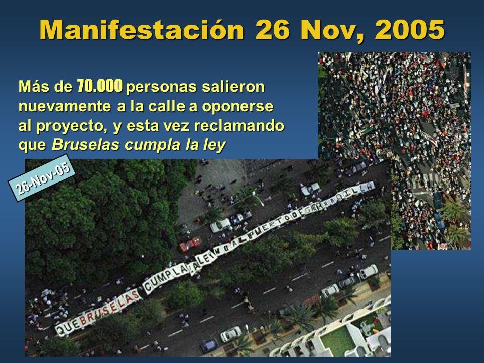 Manifestación 26 Nov, 2005