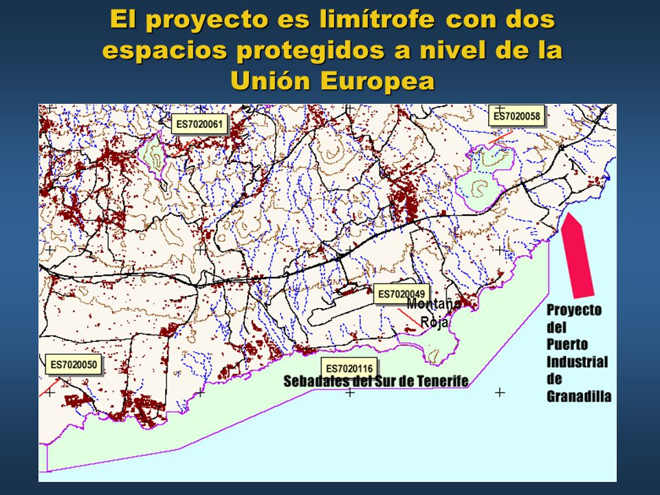 El proyecto es limítrofe con dos espacios protegidos a nivel de la Unión Europea