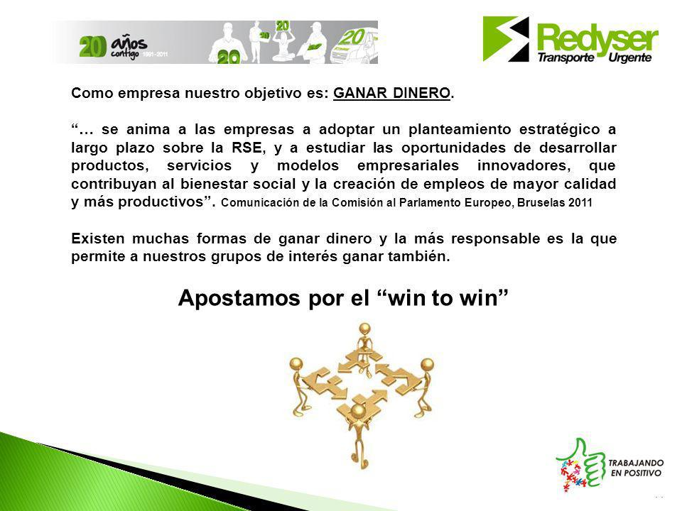 Apostamos por el win to win