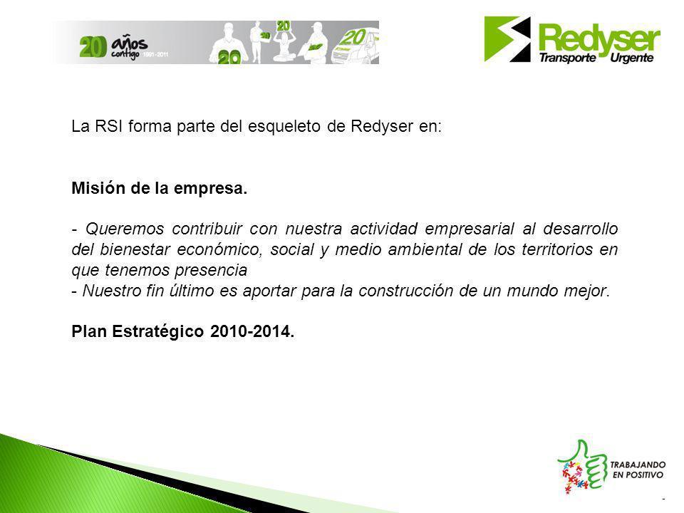 La RSI forma parte del esqueleto de Redyser en: