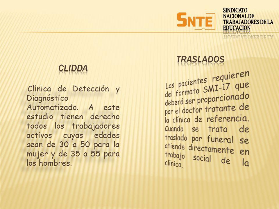 SINDICATO NACIONAL DE. TRABAJADORES DE LA. EDUCACION. traslados. Clidda.